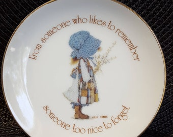 Holly Hobby friendship plate