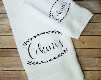 Personalized bathroom towels