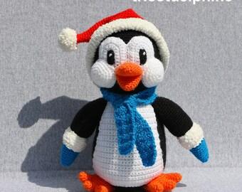 CROCHET pdf tutorial/pattern: Pingoo little Penguin for Christmas