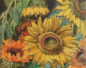 ORIGINAL PAINTING Sunflowers