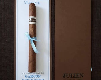 To witness or best man, cigar gift card