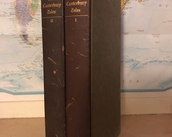 The Folio Society Antique THE CANTERBURY TALES by J. Chaucer (2 vols)