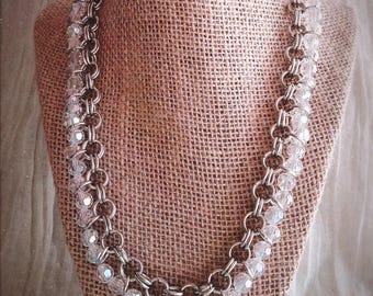Byzantine chain and glass necklace|  | Byzantine style | Glass beads | Handmade bijouterie
