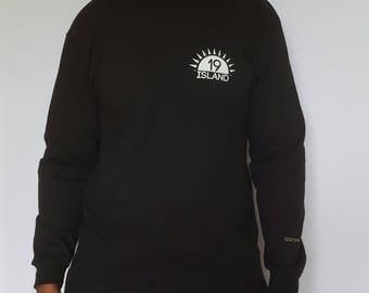Nineteen Island beach sweatshirt