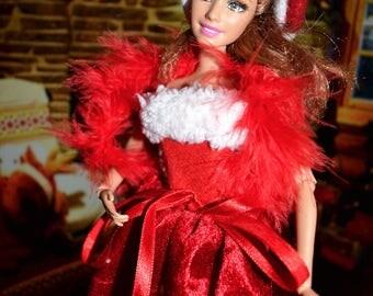 Christmas Barbie party dress