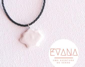 White Seashell Shaped Necklace #19