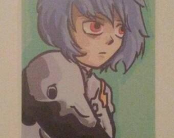 Neon Genesis Evangelion stickers- Rei and Sachiel