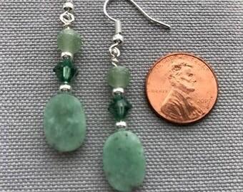 Light Green Drop Earrings