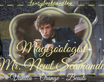 Bookcandles-Fantastic Beasts-Newt Scamander-Soy candle-handmade