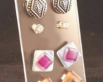 display plexi for stud earrings