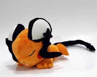 Pokemon laying down - Sleeping Dedenne custom plush - ready to be ship