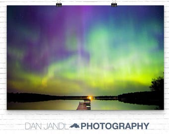 Fine Art Photography, Northern Lights, Aurora Borealis, Landscape Photography, Nature Photography, Large Wall Art, Photo Print, Wall Decor