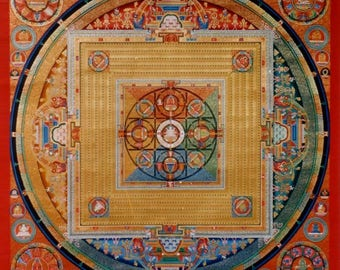 Vajradhatu  Mandala with 1000 Buddhas