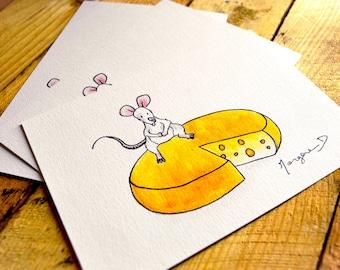 "Postcard ""Sophie the mouse"" - A6 Watercolour Illustration"