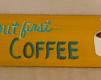 "24"" X 7"" hand painted sign"