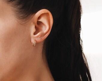 Tiny Hoops, hoop earrings, 12mm hoops, hoop earrings gold, hoop earrings, small hoops, E047