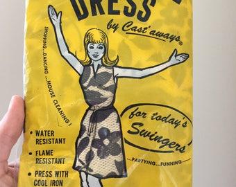 Vintage Paper Dress, Castaways Disposable Dress, 1960s Fashion, Paper Party Dress, Flame Resistant, Women's Size 11-14