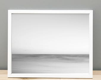 Black and White Abstract Beach - Printable Art