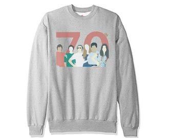 That 70s Show - Retro Vintage 70s Colors Sweatshirt ! Best Selling 70s Show Fan Art