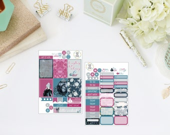 25% OFF SALE (no coupon needed) - Enchanted Tiny Kit - Vertical Planner Stickers (Weekly Sticker Kit) - For Use With Erin Condren LP