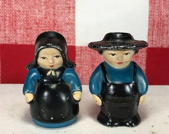 Vintage Amish Cast Iron Salt and Pepper Shakers