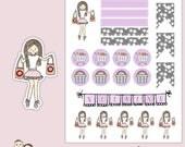 PLANNER GIRL Poppet | Planner Stickers | Shopping | Headers | Weekend Banner | Flags | Erin Condren | S126