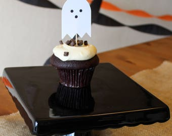 Halloween Ghost Cupcake Topper - Oh Goodness Paper Co