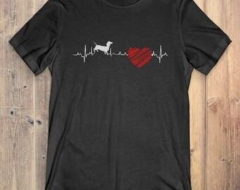 Dachshund Dog T-Shirt Gift: Dachshund Heartbeat