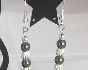Silver plated Stud Earrings, Swarovski pearls