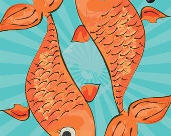 PISCES - Zodiac Art Print