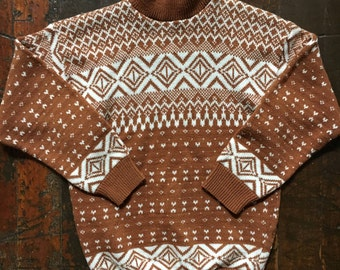 Vintage fair isle style sweater