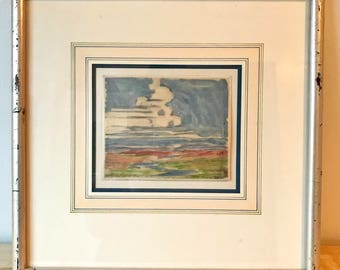 Thunderhead - Framed Vintage Painting by Margaret Tee