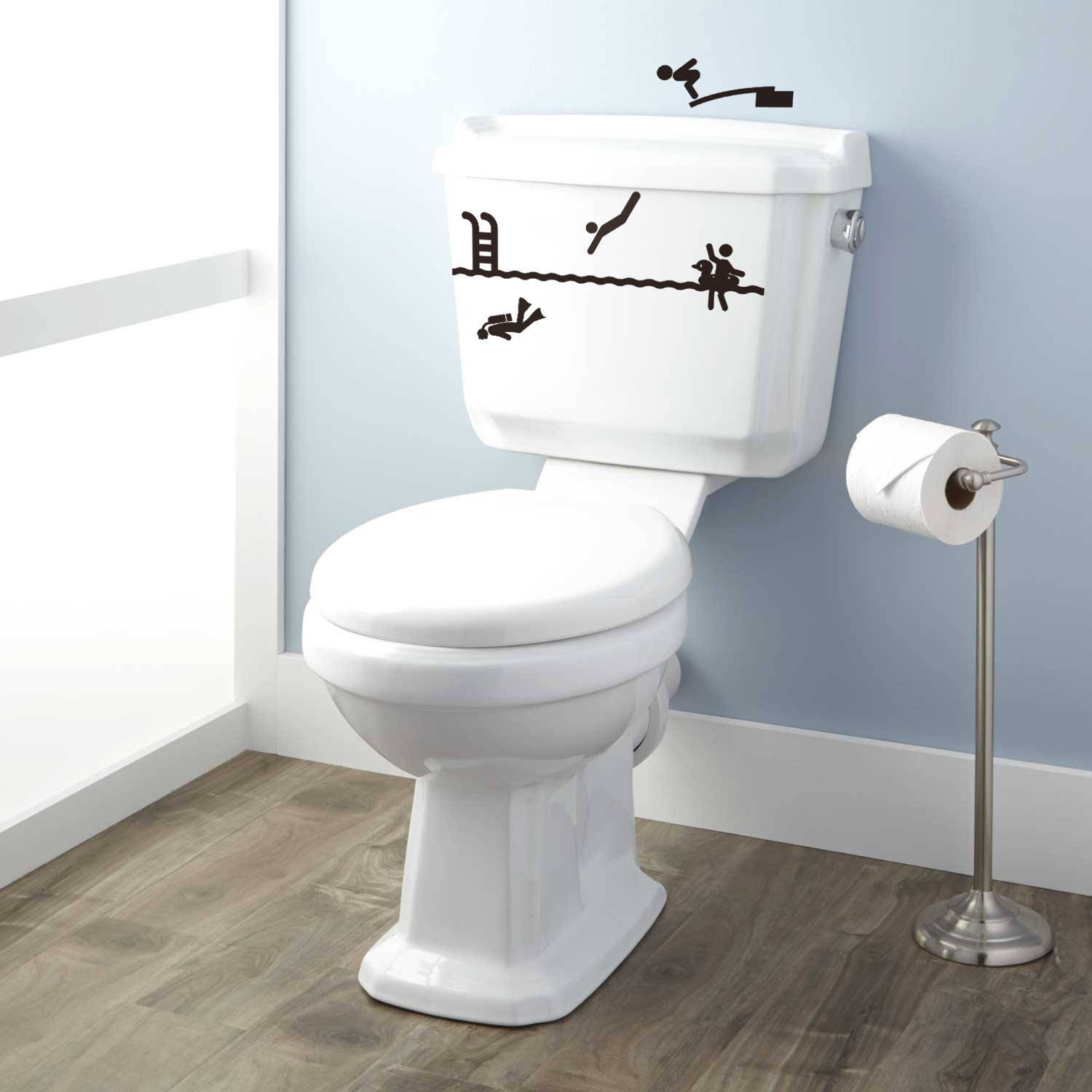 Toilet Decor Decal Set - The trip to the WC has never been so ...