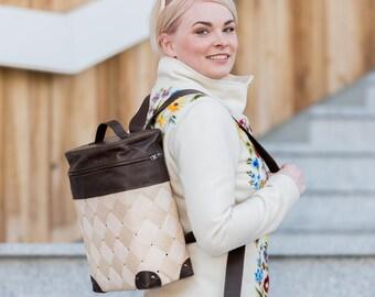 Wooden rucksack