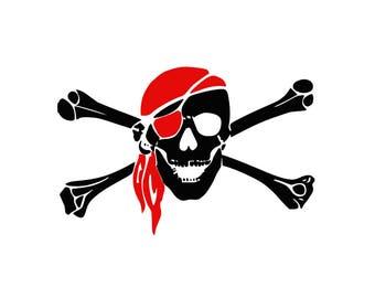 SVG DXF PNG Skull and Bones