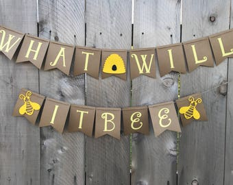What Will It Bee Gender Reveal Banner