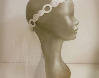 Retro-inspired bridal headband