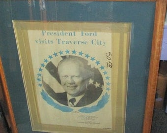 Vintage President Ford Visits Traverse City Poster