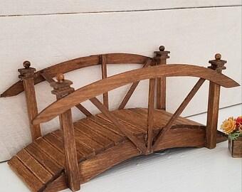 Miniature Bridge, Wooden Bridge, Dollhouse Accessories, Dollhouse Furniture, Walkway, Wooden Walkway, Handmade, OOAK