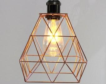 Vintage Pendant Light Gold Lamp