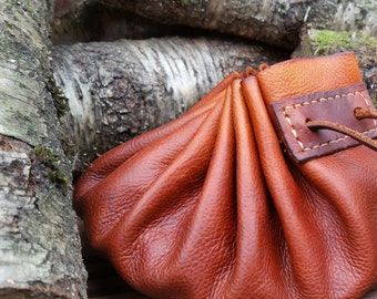 Extra Large Bushcraft Tinder/Possibles Pouch With Natural Suede Inner