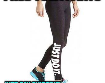"Womens ""Just Do It"" Yoga Pants"