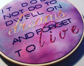 Dwell on Dreams Cross Stitch Pattern