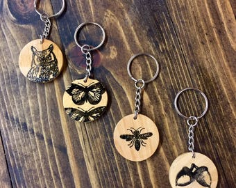 Nature Wood Keychains