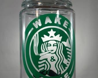"""Stache / Stash Jar (Wake and Bake Star Buds) """"Grande"""""""