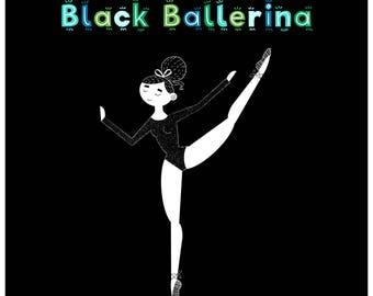 Black Ballerina Print