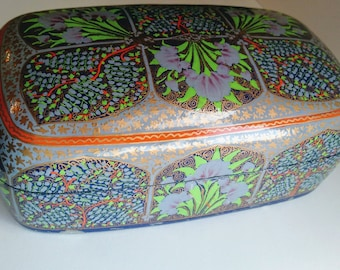 Paper Mache Hand Painted Jewelry Box