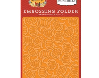 Pumpkin Patch Embossing Folder, Carta Bella Embossing Folder, Hello Fall Collection