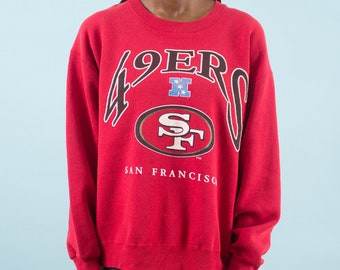 49ers, 90s Vintage, San Francisco, 49ers Football, Spring, Sweatshirt, Gameday, Season, NFL, Game Day, Sweater, Red, Sunday Football, 1996