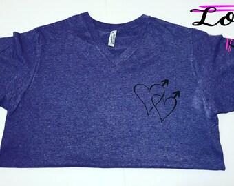 Same Hearts T-Shirt, Gay T-Shirt, LGBT T-Shirt, Gay Shirt, Pride Shirt